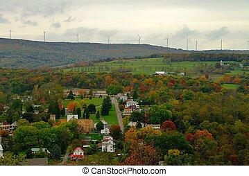 couleur, rural, amérique, paysage, automne