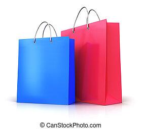 couleur, sacs, papier, achats, groupe