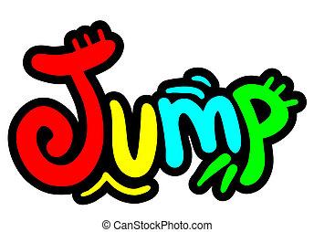 couleur, saut