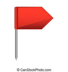 couleur, silhouette, à, drapeau, marqueur