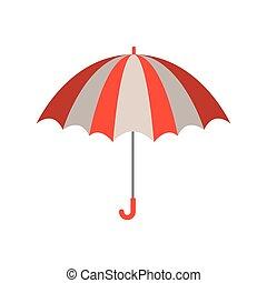 couleur, silhouette, parapluie, ouvert