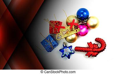 couleur sombre, résumé, décoration, fond, noël, rouges