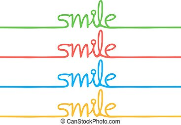 couleur, sourire, message