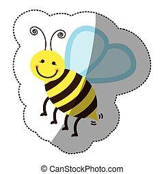 couleur, stockage, abeille, icône
