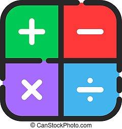 couleur, symbole, icône, math, linéaire