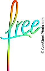 couleur, symbole, message, gratuite