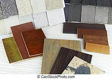 couleur, tapisserie ameublement, planification, tapisserie, ...