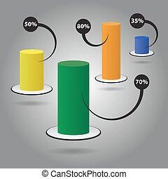 couleur, texte, -, graphique circulaire