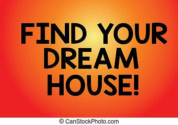 couleur, texte, house., recherche, signe, forme, vide, maison, ton, parfait, appartement, trouver, incandescent, photo, conceptuel, center., projection, faisceau, lumière, rectangulaire, propriété, rêve, rond