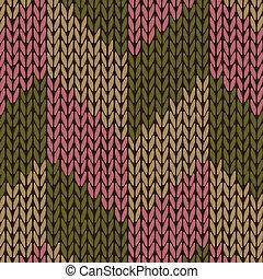 couleur, tricoté, style, seamless, modèle