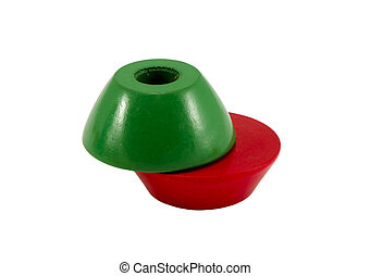 couleur, trou, bois, briques, jouet, vert, centre, rouges