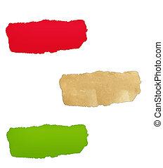 couleur, trou, papier, ensemble