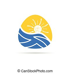 couleur, vacances, vecteur, icône
