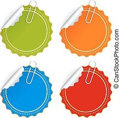couleur, vecteur, autocollants