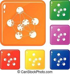 couleur, vecteur, ensemble, phenol, icônes
