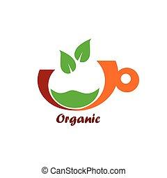 couleur, vecteur, organique, icône