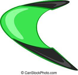 couleur, vecteur, ou, boomerang, illustration.