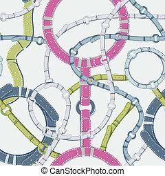 couleur, vecteur, seamless, fond, ceinture