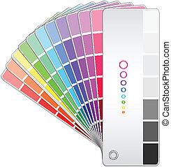 couleur, vecteur, ventilateur, illustration