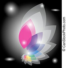 couleur, vector., wheel.