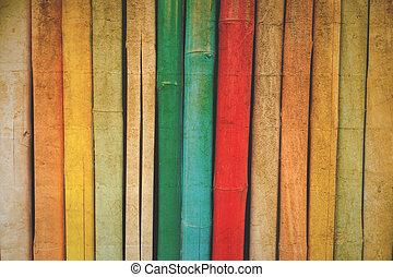 couleur, vendange, bambou, texture