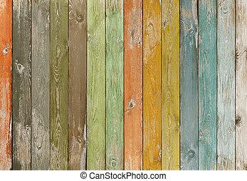 couleur, vendange, bois, planches, fond