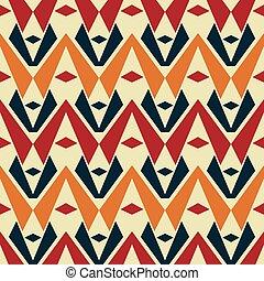 couleur, vendange, tribal, seamless, modèle, géométrique