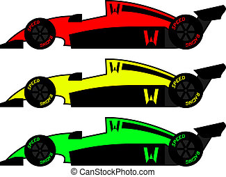 couleur, vendange, voitures