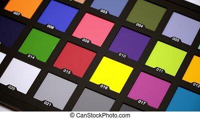 couleur, video., interprétation, colorchecker, photo, diagramme