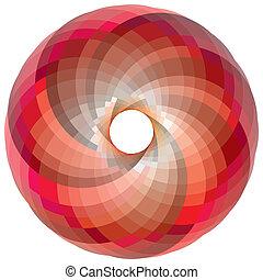 couleur, vortex, palette