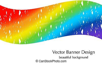 couleurs arc-en-ciel, bannière