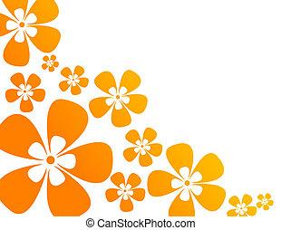 couleurs, chaud, fleurs, fond