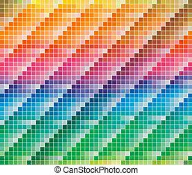 couleurs, cmyk, palette, résumé, fond