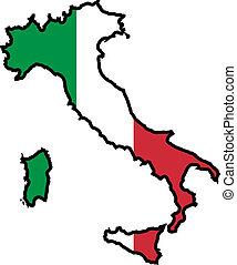couleurs, de, italie