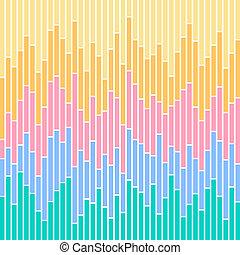 couleurs, graphique barre, stripes-pastel