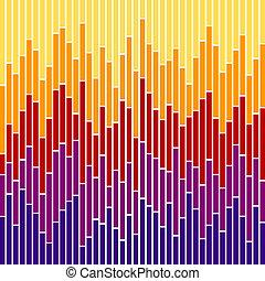 couleurs, graphique barre, stripes-sunset