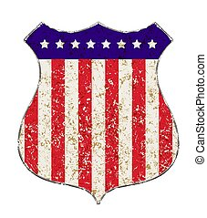 couleurs, grunge, illustration., vendange, américain, raies,...
