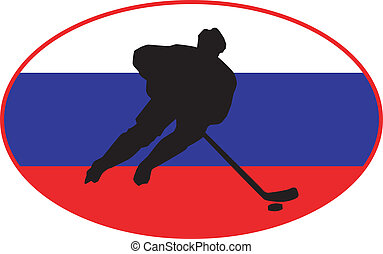 couleurs, hockey, russie