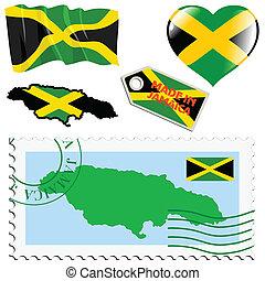 couleurs, jamaïque, national