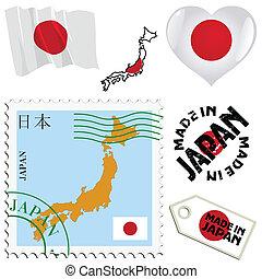 couleurs, japon, national