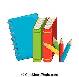 couleurs, livres, étude, desing, école