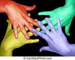 couleurs, mains