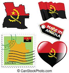 couleurs, national, angola