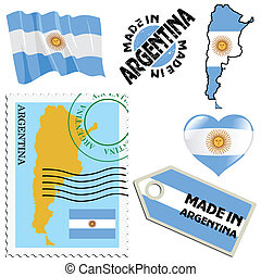 couleurs, national, argentine