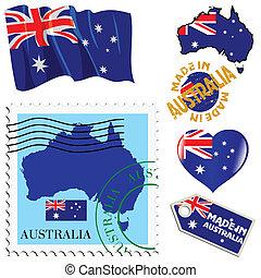 couleurs, national, australie