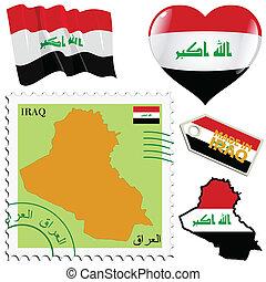 couleurs, national, irak