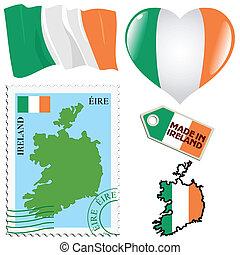 couleurs, national, irlande