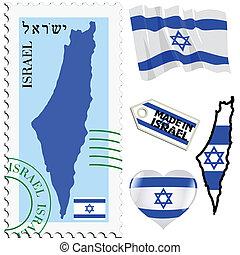 couleurs, national, israël