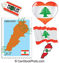 couleurs, national, liban