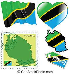 couleurs, national, tanzanie